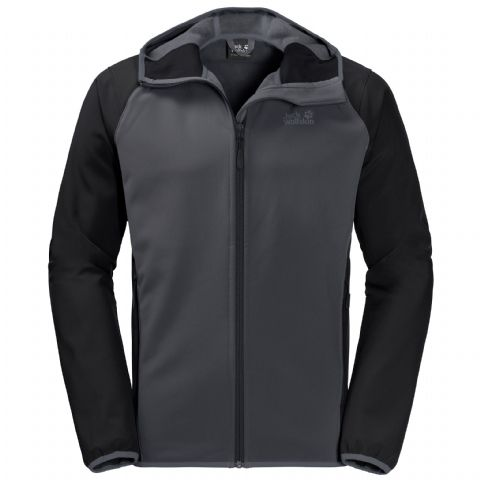 Jack Wolfskin Mens Zenon Hooded Softshell - Windproof and Water Resistant